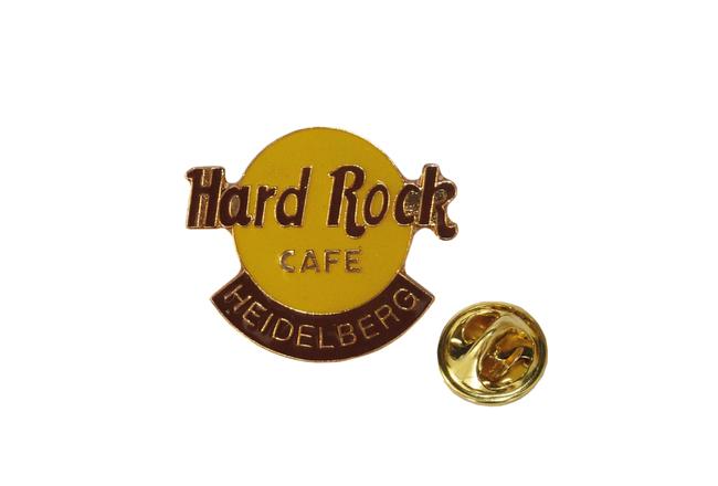 Emaille-Pin, goldfarbene Kontur, 2fbg., Hard Rock Cafe