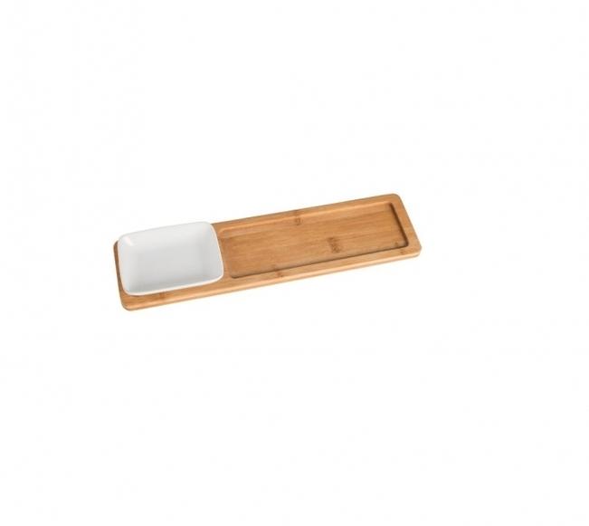 Bambustablett mit Anrichteschale LIDA (R)
